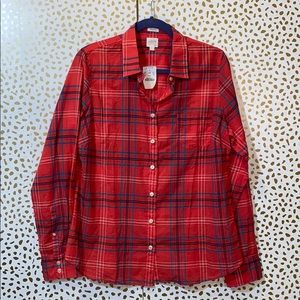 J. Crew Perfect Fit Holiday Plaid New with tags